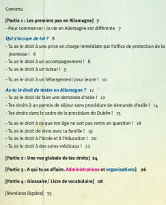 Inhaltsverzeichnis Französisch