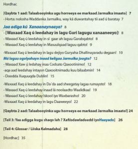 Inhaltsverzeichnis Soomali