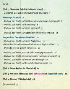 Inhaltsverzeichnis deutsch