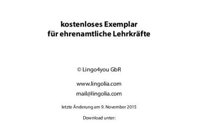 Unterrichtsmaterialien Deutsch für ehrenamtliche Lehrkräfte (von Lingolia)